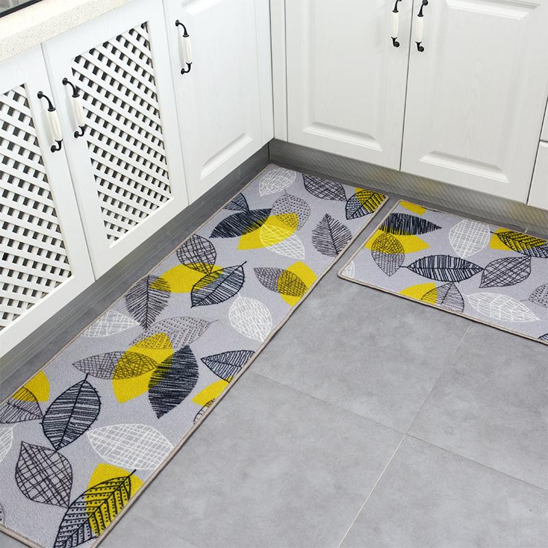 厨房地垫防油防水家用长条防滑脚垫子吸水进门垫入户满铺定制地毯