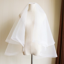 Short new style combed wedding dress accessories package simple white package mail accessories Korean headdress