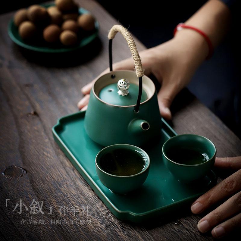 日式功夫茶具套装快客杯一壶二杯简约泡茶小套装茶壶茶杯茶盘整套
