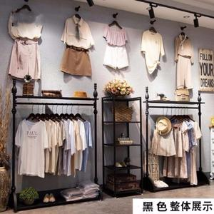 Clothing store display stand floor combination decorative rack commercial display shoes bag hanger women's modern shoes men's clothing