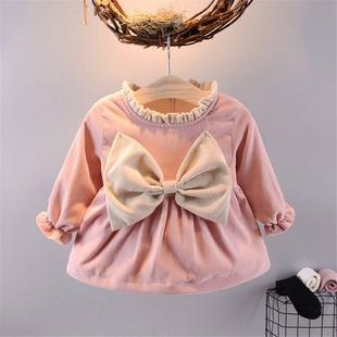 新款女童裙子童装连衣裙春款女宝宝儿童婴幼儿春秋裙子韩版公主裙