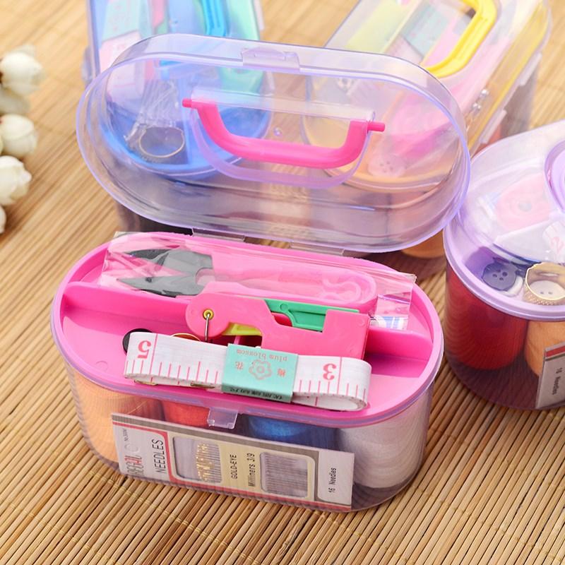 简单爱 特价套装盒家用套装缝纫缝补套装包大号套装盒针线收纳盒
