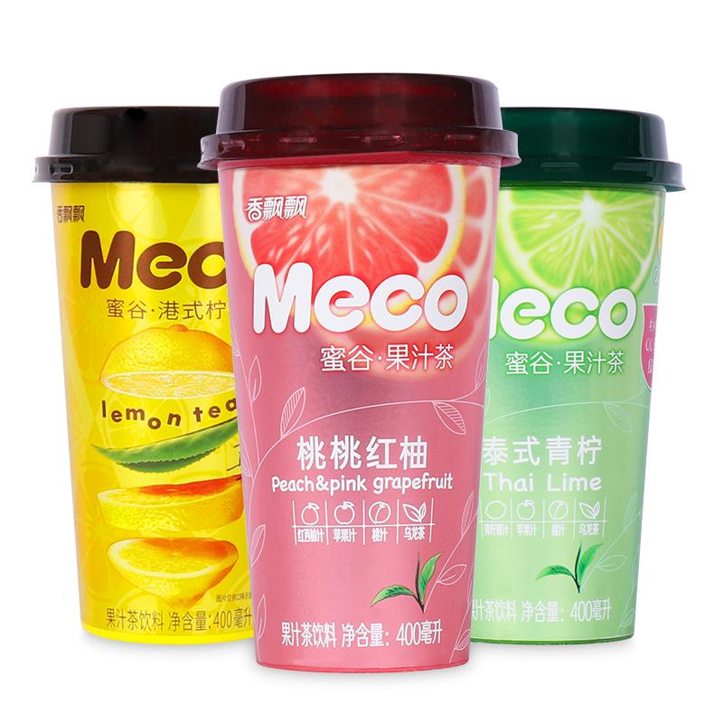 香飘飘Meco蜜谷果汁茶泰式青柠桃桃红柚奶茶王者果味茶饮料整箱