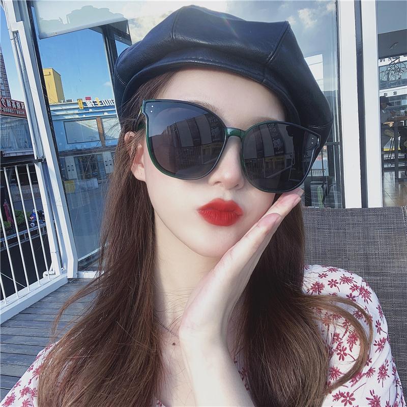 2020新款韩版太阳镜女圆脸时尚大框明星同款方形墨镜女防紫外线