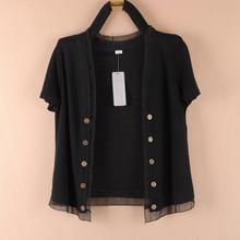 夏季大码女装短袖针织开衫薄外套外搭so14裙(小)披or衣空调衫