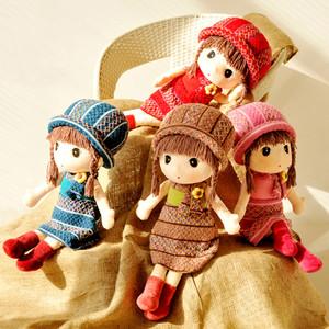 Cute doll girl humanoid plush toy rag doll girl may flower fairy child baby girl doll