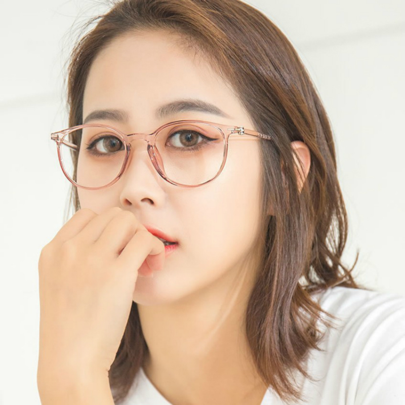 近视眼镜女可配有度数全透明眼镜框男复古圆脸眼睛框镜架女网红款