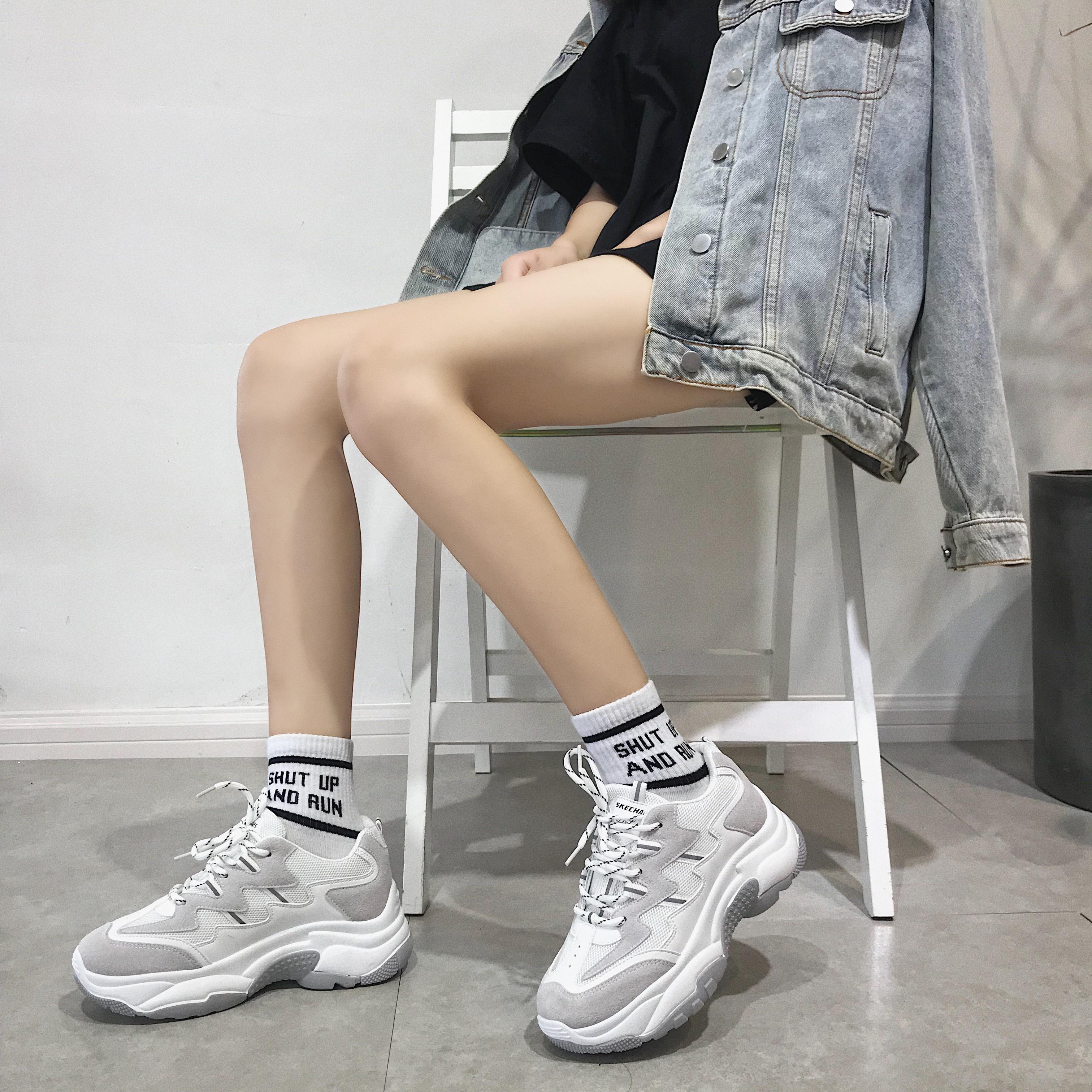 运动鞋女秋2019新款韩版ulzzang原宿百搭老爹鞋ins超火的丑鞋子女