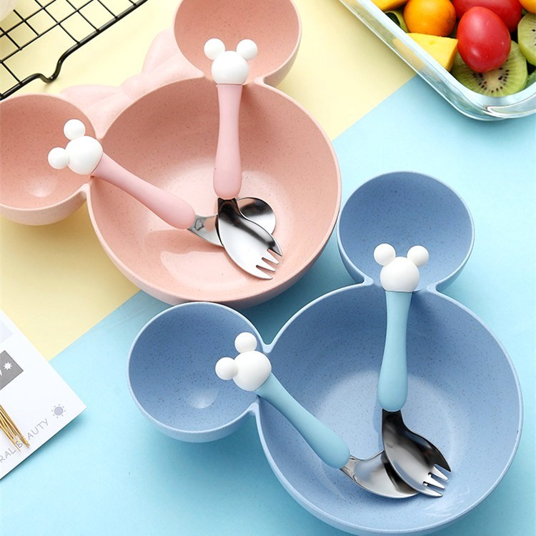 训练学幼儿用的宝宝筷子小孩勺子婴儿喂水套装吃饭儿童碗汤勺碗勺