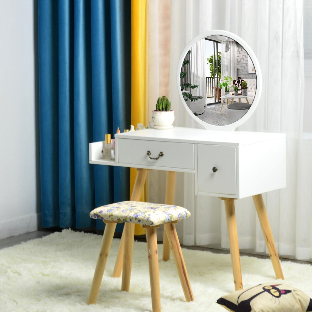 现代简约卧室小户型北欧梳妆台网红多功能化妆桌化妆台欧式ins