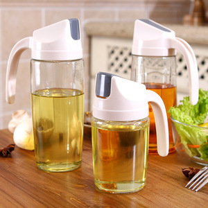 Automatic opening and closing oil pot Japanese household kitchen supplies large capacity glass leak-proof small soy sauce vinegar bottle oil bottle oil bottle