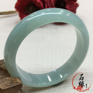 Pure natural old pit waxy seed oil floating flower purple A cargo jade bracelet authentic Myanmar jade jewelry