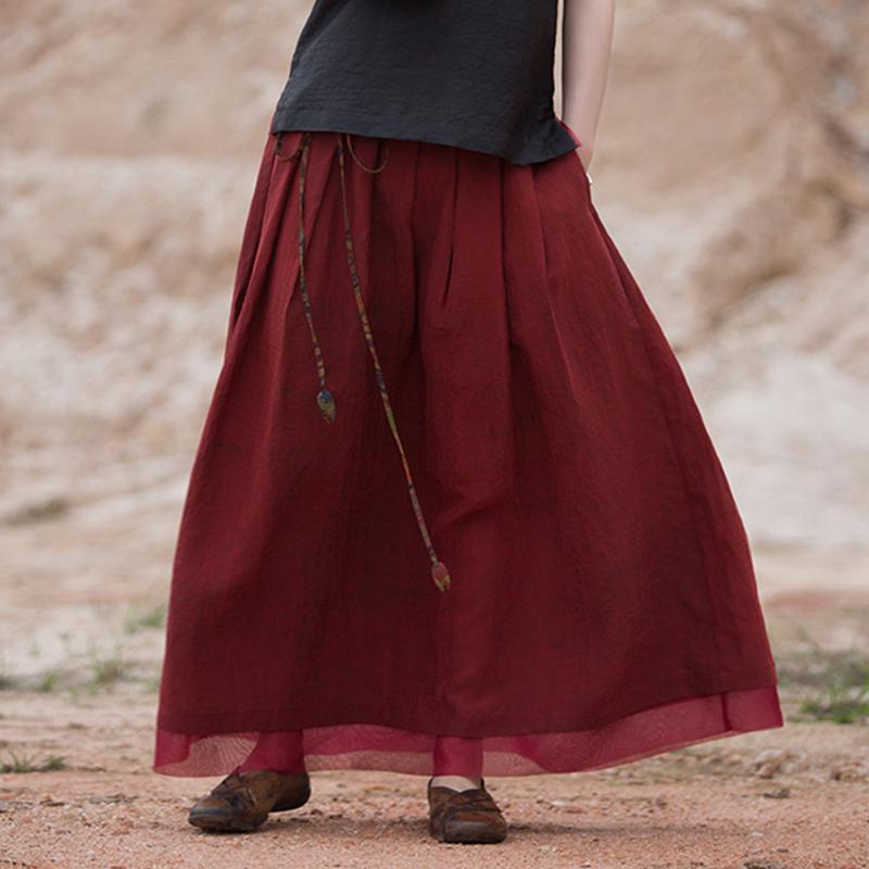 【清空】吉祥羽儿春夏款原创桑蚕丝龟纹香云纱系带半身长裙包邮女
