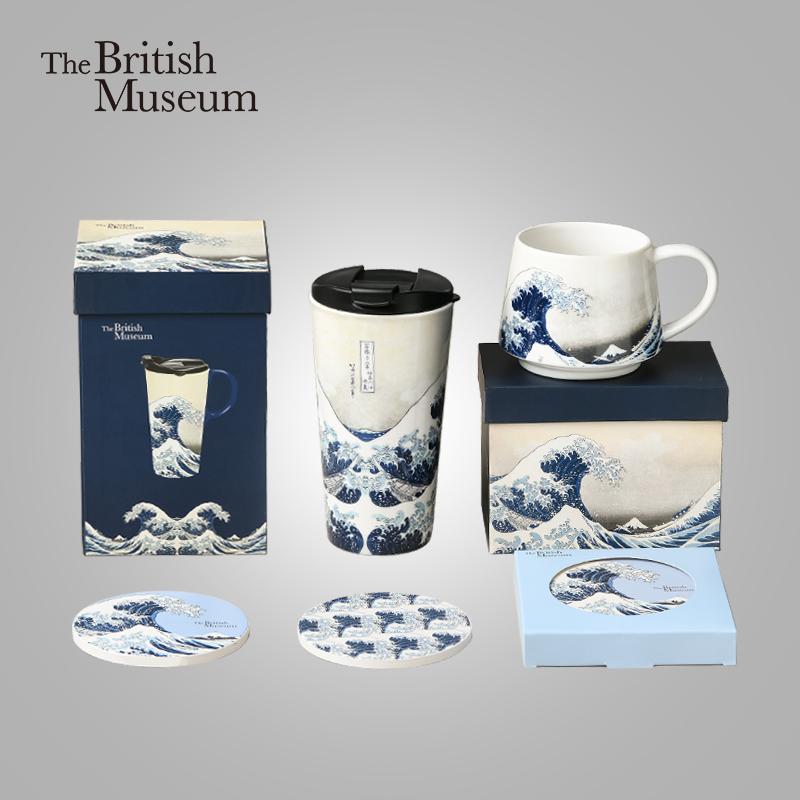 大英博物馆马克杯IP联名款陶瓷杯垫水杯大容量咖啡杯子礼盒装家用