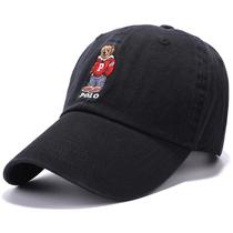 弯檐鸭舌帽男polo帽子女小熊棒球帽保罗帽韩版百搭潮人ins遮阳帽