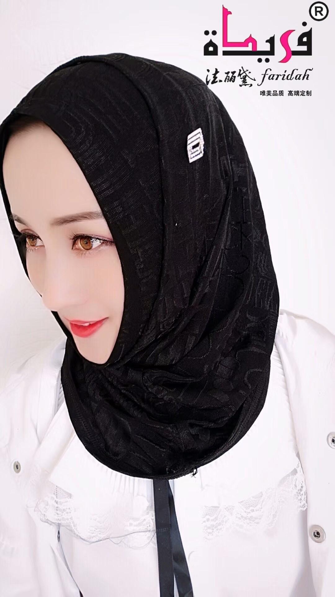 2018新款头套直筒盖头打底伊斯兰纱巾方便套头款夏季穆斯林头巾_6折图片
