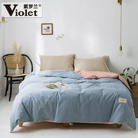 紫罗兰全棉水洗棉被套单件纯棉单双人学生宿舍床品1.5米1.8被子罩