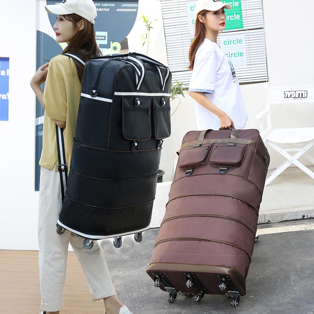 加厚大容量 158航空托运包出国旅行包上留学搬家收纳带轮行李箱包