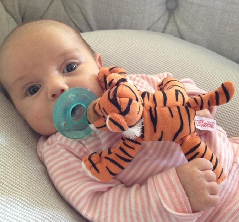 美国WUBBANUB BABY婴幼儿安抚奶嘴 新生儿宝宝悬挂式动物安抚奶嘴