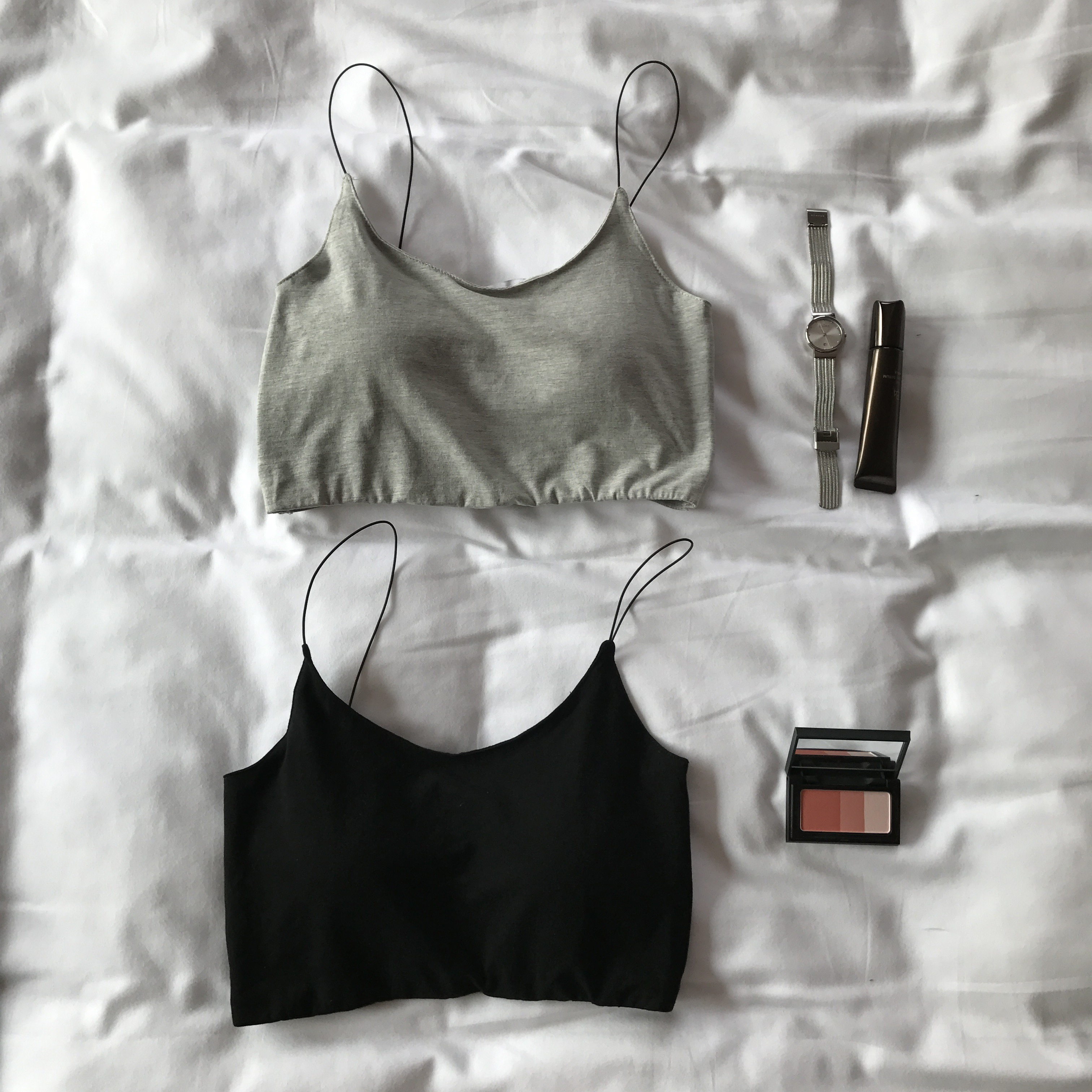 nini 春夏季带胸垫防走光简约基础内搭打底小裹胸背心吊带女