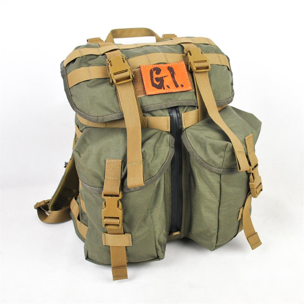 Lii Gear G.I.联名 丛林勇士 复古徒步战术双肩包