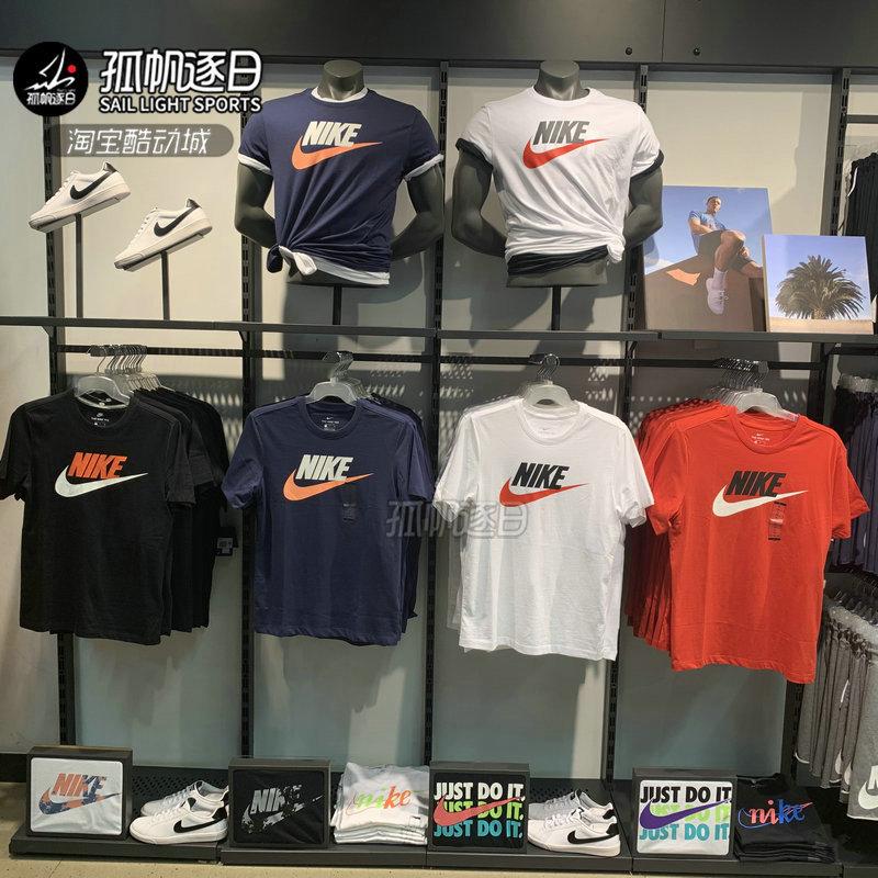 NIKE耐克男夏季休闲运动圆领透气半袖短袖T恤 AR5005-010 CT3683