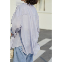 防晒衬衫女20bo41夏季新ne(小)众韩款百搭宽松盐系衬衫长袖