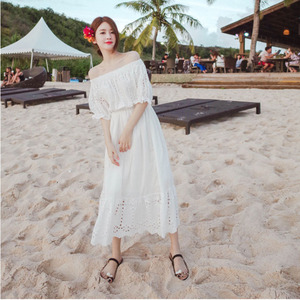 Pregnant women summer dress fashion models 2018 new tide mother word collar dress 3-9 months summer pregnant women skirt