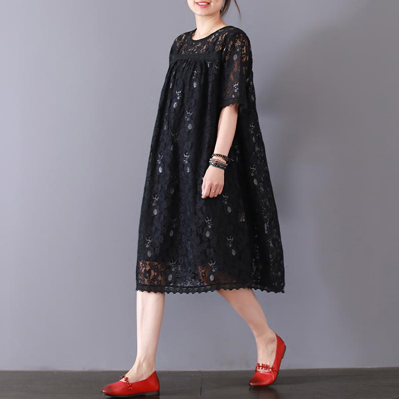 素品文艺蕾丝绣花宽松连衣裙夏季新款纯色中长款吊带裙休闲两件套