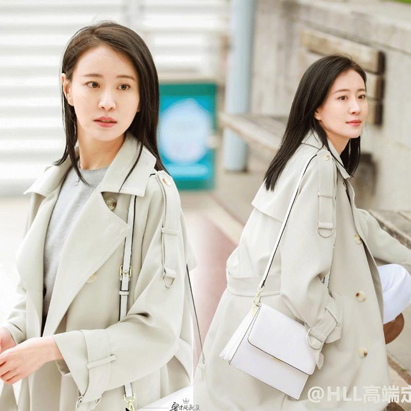亲爱的热爱的苏澄同款风衣女中长款2019秋季新韩版宽松外套女大衣