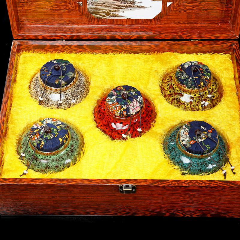 安溪铁观音茶叶礼盒装乌龙茶新茶清香型陶瓷小罐过年春节礼品送礼