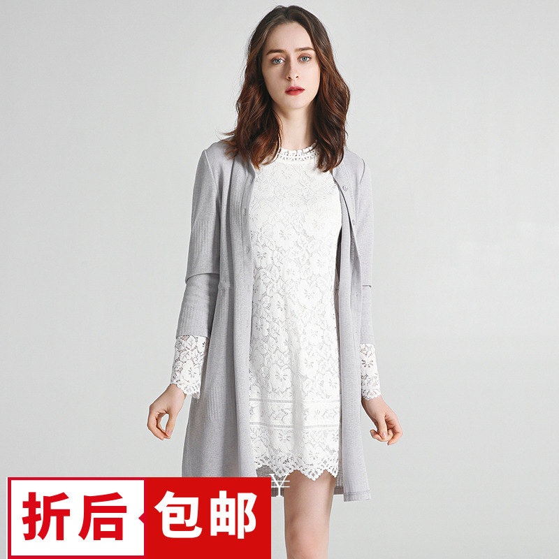 【5折包邮】HH系列女装品牌折扣九魅尾货春抽绳收腰外套打底外穿