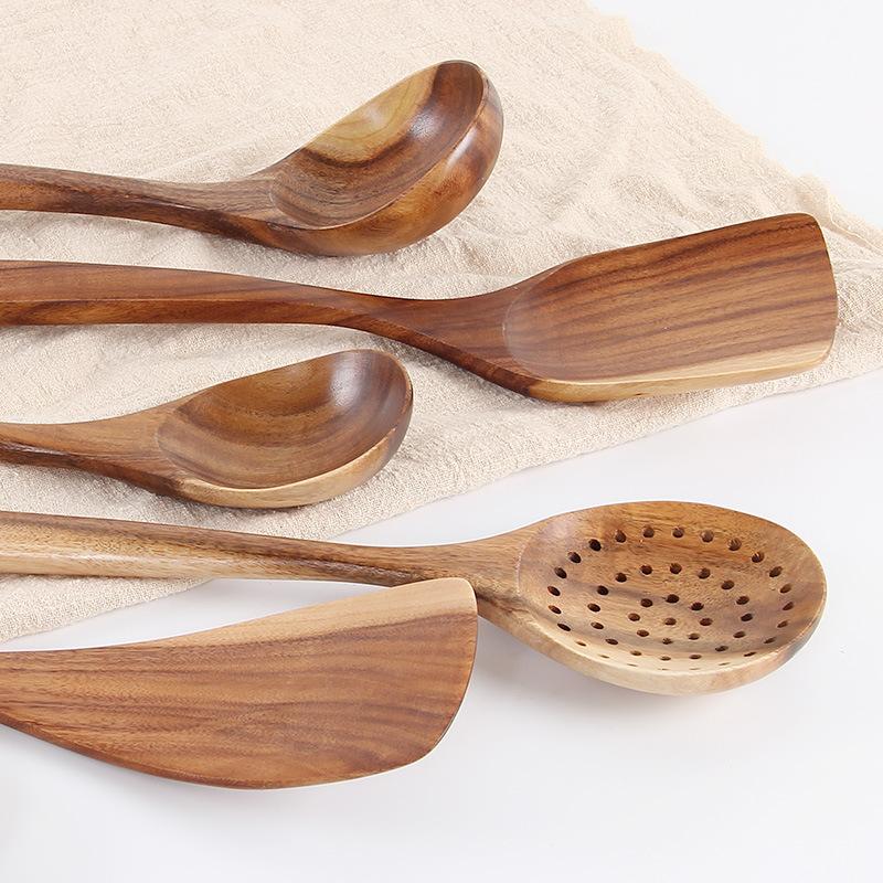 柚木汤勺长柄勺子家用勺子盛粥勺稀饭勺大汤勺木铲日韩式大号木质