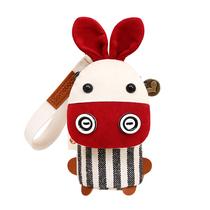 钥匙包女式韩国可爱布艺多功能个姓创意迷你小包收纳包卡通零钱包