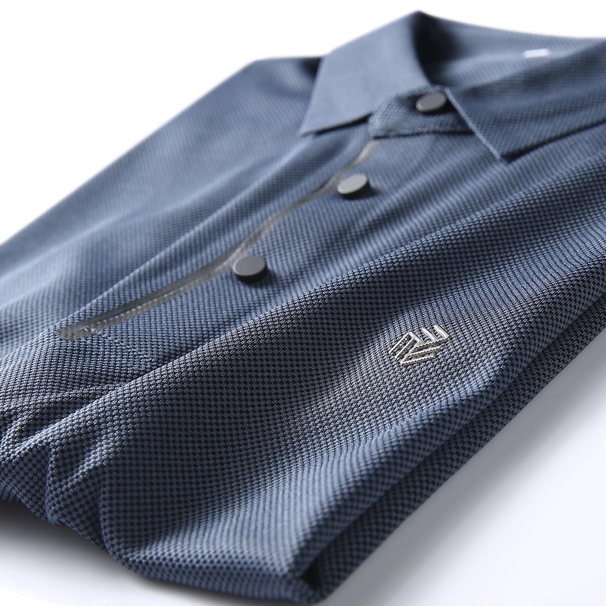 夏季新款 舒适透气珠地网眼 男士商务修身翻领短袖T恤 POLO衫