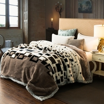 拉舍尔毛毯加厚双层女10斤法莱绒12斤男宿舍单双人婚庆珊瑚绒毯子