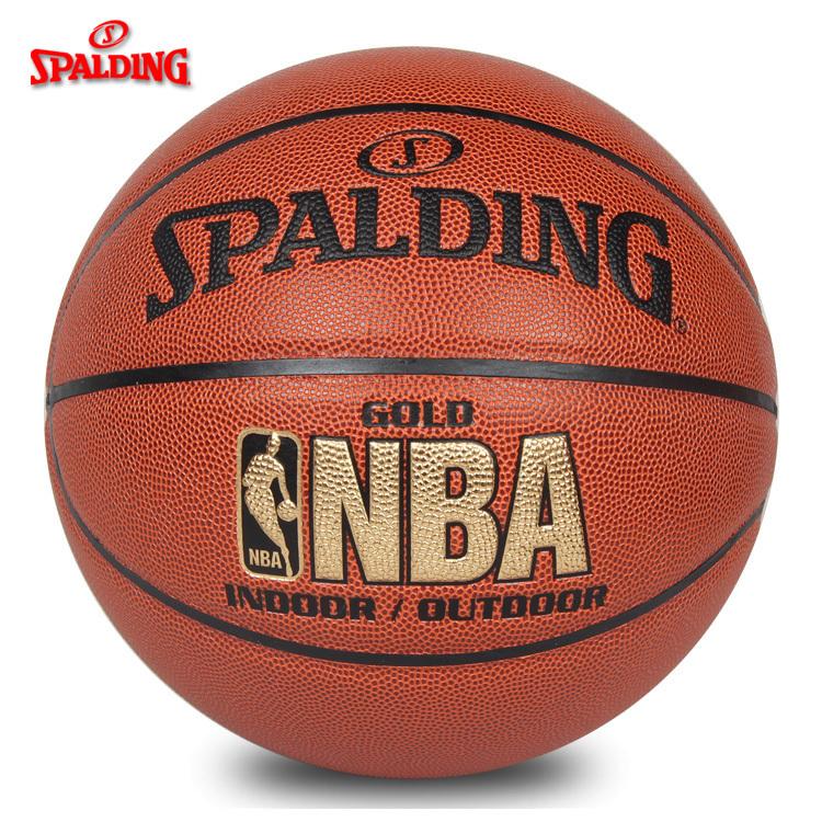 包邮[可乐文体]斯伯丁篮球74-606Y(64-284)NBA金色经典水泥地耐磨