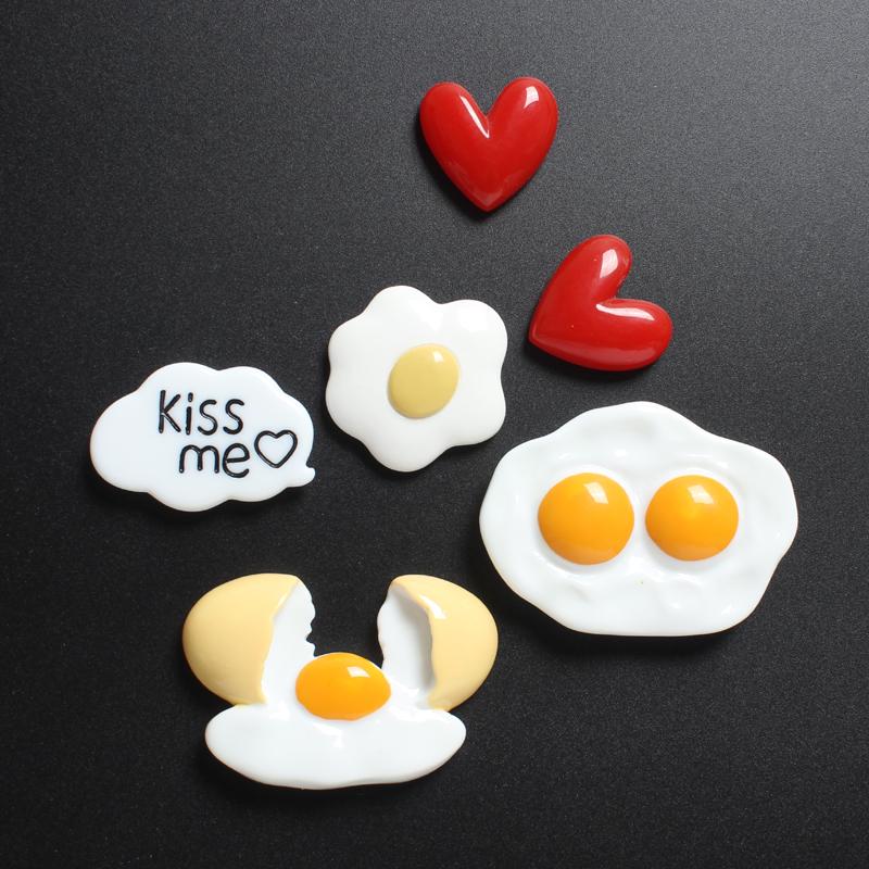 创意仿真食物鸡蛋荷包蛋冰箱贴 磁贴强力磁铁吸铁石留言帖磁力贴