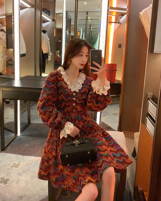 款韩版中长款裙子仙女超仙森系