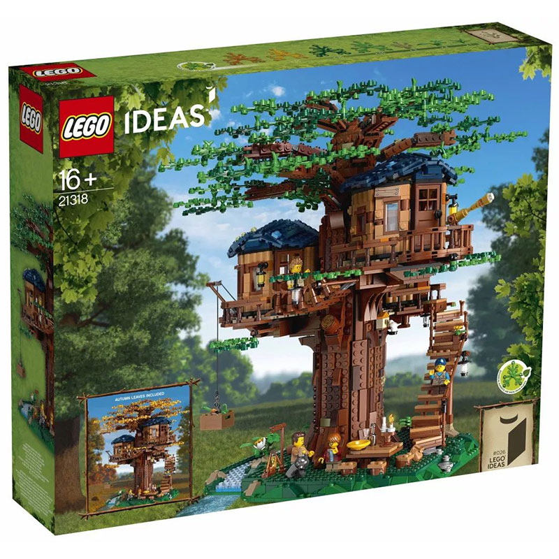 8月新品 乐高LEGO 21318 树屋 可四季变幻 男女生礼物Ideals系列
