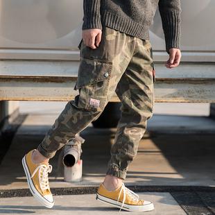 男士时尚休闲迷彩宽松小脚工装裤