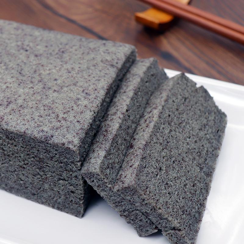 【宝舜食品】宁波特产紫米糕 黑米糕凉糕蛋糕米发糕传统糕点500克