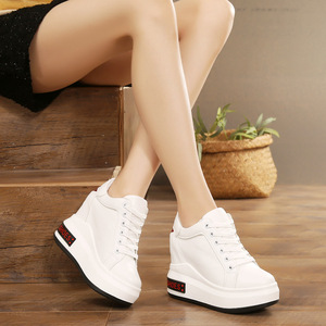 Increase women's shoes within 10cm autumn and winter new Korean thick-soled sponge cake super high heel small size shoes sports casual shoes