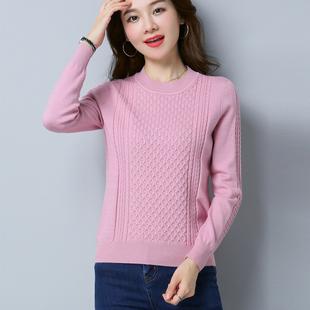 低领毛衣女套头短款2018秋季韩版新款百搭宽松大码打底针织羊毛衫