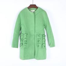 【欧拉oula】轻简品牌女装新式春by14装羊毛00024