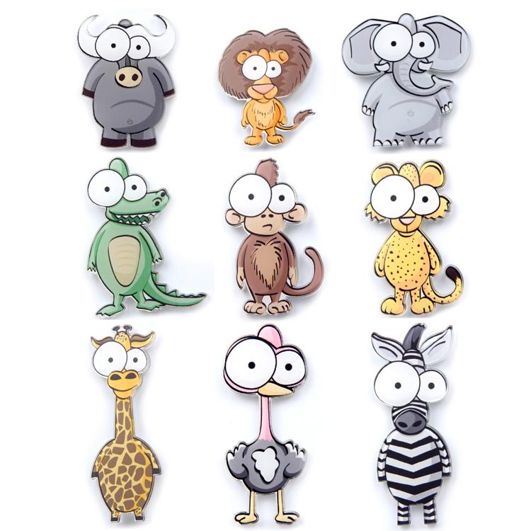日韩卡通可爱立体磁性动物冰箱贴磁贴创意吸铁石磁力扣 一套包邮