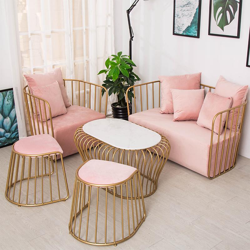 北欧服装店沙发茶几组合 ins小沙发网红款工作室