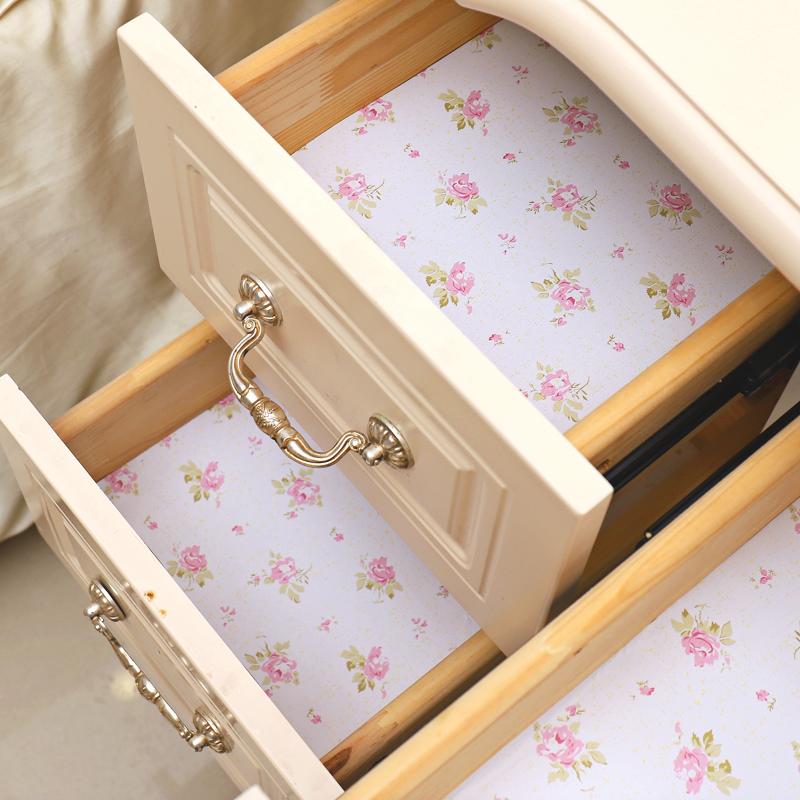 抽屉垫纸自粘加厚鞋柜防脏衣柜防尘厨房防水防油印花橱柜防潮贴纸