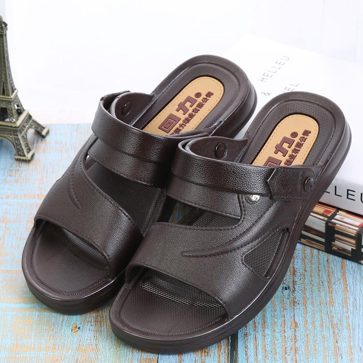 回力凉鞋男士休闲居家沙滩凉防水夏季仿皮塑胶耐磨两用凉拖鞋3888