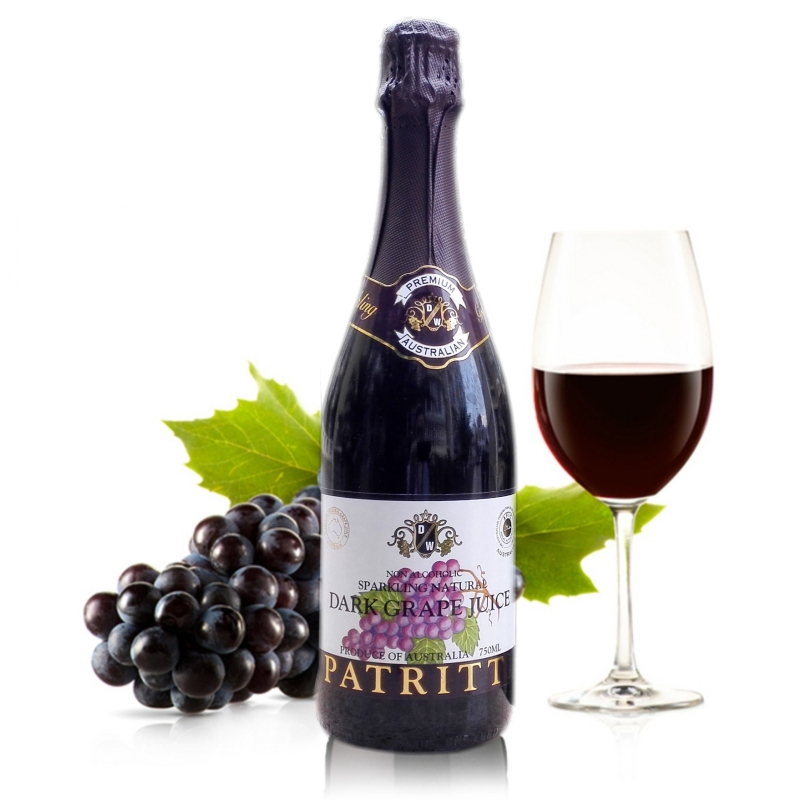 香萃提纯黑气泡型葡萄汁无醇澳大利亚进口起泡酒纯果蔬汁饮料包邮